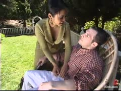 Mistress Mika Tan Outside with Husband