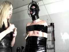 Brutal Blonde Fem Dom Punishment