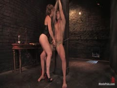 Brutal Female Domination With My Captive Male