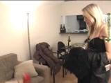 Lezdom foot smothering from a mean misstress