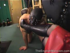 Deep fetish ass licking ordered by a blonde mistress