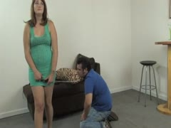 Wife Puts Hubby on Leash Forced to Clean Feet