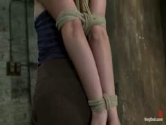 18 year old bondage virgin, get tightly bound, stripped, gaged, and made to cum!  Helpless with no hope for escape.