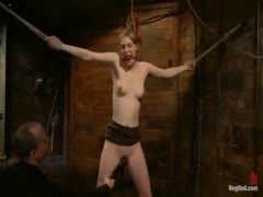 Ela Darling tied up, squirting, and begging for more.
