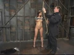 Experience Celena's first bondage form begining to end