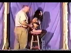 brutal slave device bondage and hogtying