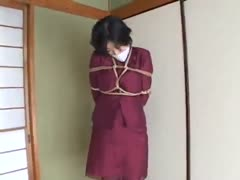 a roped pervy slave - part 2