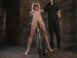Harmony Rose, bound, machine fucked ass, pussy multiple orgasms!