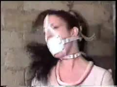 gagged and helpless in straight jacket
