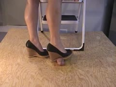 Brown Wedges Stomp and Jump