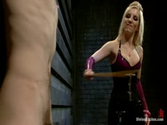 Ashley Fires fucks a pleasure slave for the first time