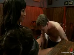Yasmin's Thick Cock Deep in Vern's Throat and Ass