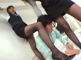 Pretty Chinese girls gets foot worshipped
