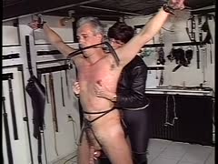 Submissive an tied and tortured