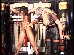 Whore gets tortured by her  blonde  dominatrix