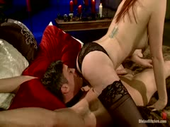 Maitrese Madeline get wild with her male slave