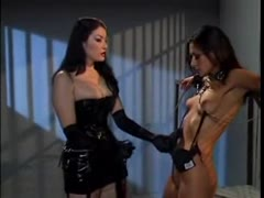 Leather bound dykes from hell torturing their captive