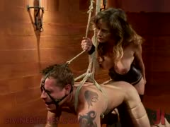 Tied, bound and gagged slaved abused