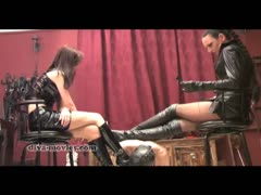 Madame Catarina and friend angry treatment to slaves cock