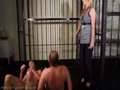 Training her two male slaves