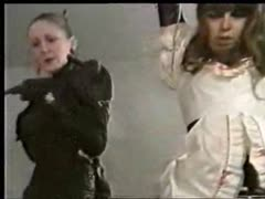 Extreme governess whips her stupid slave
