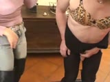 Fetish domme get kinky with her sissy slave