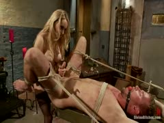 Aiden Starr dominates man in BDSM