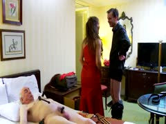 Dominatrix Annabelle force-bi two old men