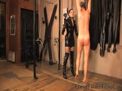 Bad slave need to be canned to learn his lesson