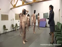 Naked slaves in their training day