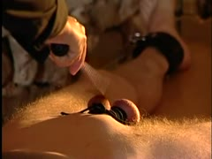 Mature domme cock torture session