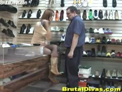Shoe store manager attacked with her abusive femdom customer