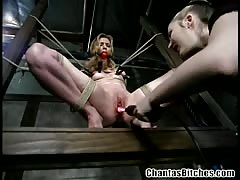 Mistress Chanta let his sub female experienced BDSM