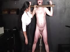 Restrained and tortured