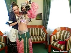 Belly dancer humiliated and dominated by her lesbian choreographer