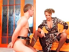 Depraved mistress humiliating weak one