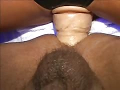 Massive strapon drilled on a tight anal hole