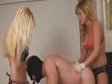 Mind blowing threesome strapon domination