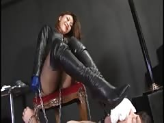 BDSM Asian babe hard domination