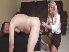 Helpless old chastised slave tortured and humiliated