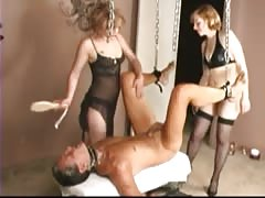 Blonde insane sluts giving punishment