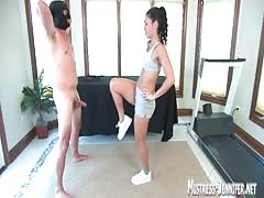 Mistress Jade Indica inflicting pain to slave