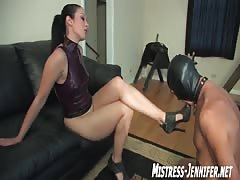 Mistress January  showing slave her cruelty
