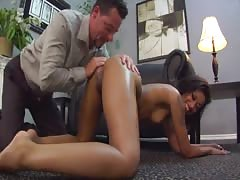Her anal rimmed by submissive husband