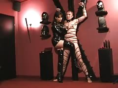 Lady Ramirez tormenting her crucified slave