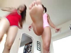 Cam humiliation from two femdom bitches