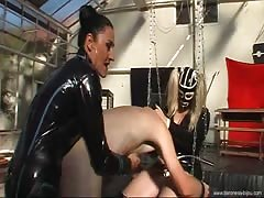 Baroness Bijou and friend pegging session