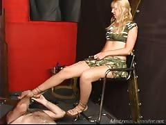 Mistress Crimson gets tough with her slave today