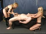 Forced bi slaves pegged by two mistresses