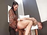 Handcuffed naked slave fucked in the ass
